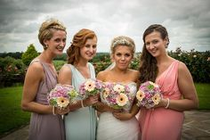 #wedding #flowers #bride #bridesmaids #bouquets #sweetpeafloristry