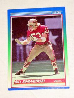 9dd5228ca Bill Romanowski San Francisco 49ers 1990 Score  408 Card For Auction Sale!