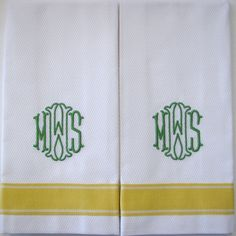 Special Monogramming - Buckley, by Grace Hayes - Grace Hayes Linens on Taigan