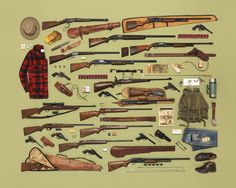 SUBMISSION:Vintage Firearm Collection by Jim Golden, styling by Kristin Lane.