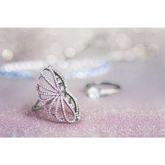 Anel Wings Semi Joia Waufen Rosa Anel para Festa