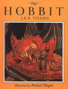 This edition of J. Tolkien's classic is illustrated with 48 paintings by noted artist Michael Hague. Bilbo Baggins is a hobbit who enjoys a comfortable, unambitious life, rarely traveling any fart Hobbit Book, The Hobbit, J. R. R. Tolkien, Children's Literature, Illustrations, Book Authors, Middle Earth, Childrens Books, Good Books