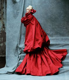 Daphne Guinness is my fashion hero.  Bring on the skunk-stripe hair, the towering platforms, the fashion-as-performance-art.  She is my people.