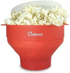The Original Salbree Microwave Popcorn Popper with Lid, Silicone Popcorn Maker, Collapsible Bowl BPA Free - 14 Colors Available (Red) Best Popcorn Maker, Homemade Microwave Popcorn, Microwave Popcorn Maker, Popcorn Bowl, Popcorn Kernels, Free Popcorn, Popcorn Buckets, Air Popper, Specialty Appliances
