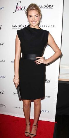 Kate Upton's belted LBD