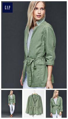 Linen-cotton relaxed blazer