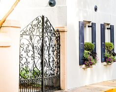mediterranean house with window box - Google Search