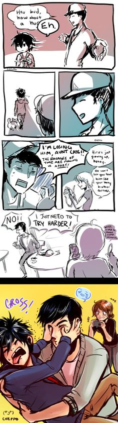 *cries loud enough for the entire earth to hear* hamada home life by Cheppoly on deviantART