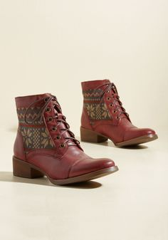 Make It Worth Fair Isle Vegan Boot, @ModCloth