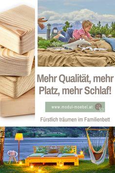 Du liebst das Familienbett, willst aber mehr als nur eine billige Übergangslösung oder Matratzenlager am Boden? Unsere außergewöhnlichen Massivholzbetten aus dem Holz von Zirbe, Fichte, Kiefer oder Eiche massiv gibt es in sagenhaften 33 Bettbreiten vom Einzel- bis zum Familienbett! Jedes Bett lässt sich erweitern (und trennen), sodass du egal ob mit 1 Kind, 2 Kindern oder mehr immer genug Platz und Schlaf bekommst. Gleich online konfigurieren!#mmw #familienbett #bindungsorientiert #holzbett 2 Kind, Interior, House, Small Bedrooms, Bedroom Ideas, Bed Covers, Indoor, Home, Interiors