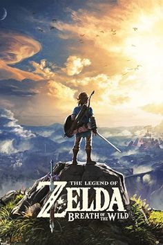 Pyramid America The Legend of Zelda Breath of The Wild Hyrule Video Game Gaming Cool Wall Decor Art Print Poster 24x36