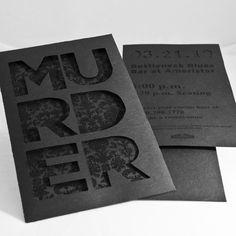 Murder Mystery invitations by Laura Schmaltz, via Behance