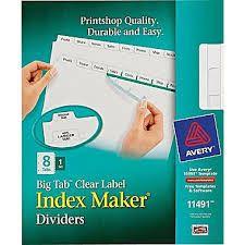 El diario de mi Hogar: Muestra de Avery® Index Maker® Dividers!
