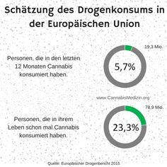 """23,3% aller Einwohner in der Europäischen Union haben laut """"Europäischer Drogenbericht 2015"""" schon mal Cannabis konsumiert. In Summe wären das fast 80 Millionen Menschen. Ein weiteres Bespiel, dass der Krieg gegen Cannabis gescheitert ist.   Cannabis Hanf Hemp Weed Marijuana Marihuana Medizin"""
