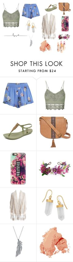 """""""Untitled #122"""" by cj34turtles ❤ liked on Polyvore featuring MINKPINK, Topshop, IPANEMA, T-shirt & Jeans, Casetify, Rock 'N Rose, BillyTheTree, Stone Paris and Bobbi Brown Cosmetics"""