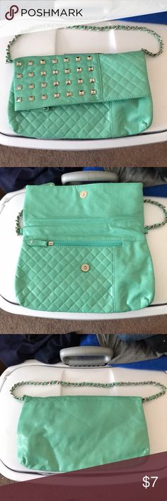 EUC mint purse Faux leather mint purse with stud detail and chain strap. Rue 21 Bags Mini Bags