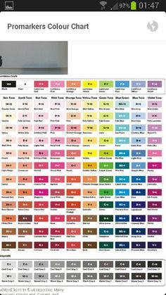 Color Chart Prismacolor Brush Tip Marker Kunst, Marker Art, Color Mixing Chart, Color Blending, Color Charts, Coloring Tips, Coloring Books, Adult Coloring, Prismacolor 150