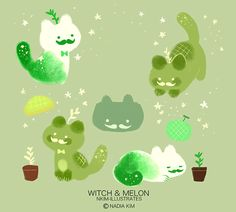 Witch & Melon 08. (Earth Day was yesterday, but I wanted to do something for it, so here it is!)