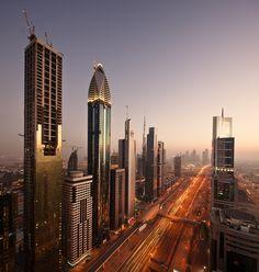 Sheikh Zayed Road, Dubai Skyline!