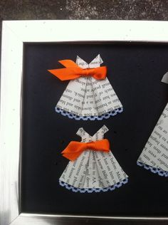 Cute party dresses. Origami home or party decoration