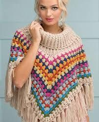 Resultado de imagen para poncho a crochet con patron