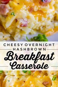Easy Breakfast Casserole with Potatoes and Ham Cheesy Overnight Hashbrown Frühstücksauflauf – The Food Charlatan Breakfast Dishes, Breakfast Recipes, Breakfast Potatoes, Breakfast Quiche, Breakfast Ideas, Breakfast Egg Bake, Breakfast Enchiladas, Overnight Hashbrown Breakfast Casserole, Hashbrown And Egg Casserole