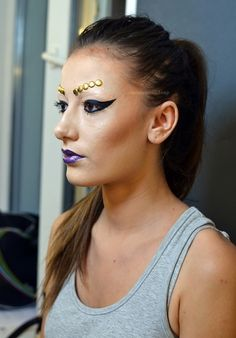 Makeup Artist: Dana Ivan  /Cat Eye/Purple Lips