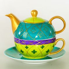 "Tea for one teapot/cup ""Mina"""