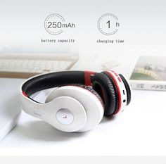Bluetooth Headphone Wireless With MIC Sound Intone Support TF Card FM Radio Stereo Bass Headset For Computer iPhone Xiaomi Wireless Headphones With Mic, Headphone With Mic, Beats Headphones, Radios, New Gadgets, Iphone, Headset, Electronics Gadgets, Bass