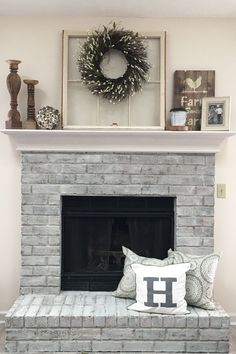 My Mantle Is Almost Complete Fireplace Ideasfireplace Mantelmantel