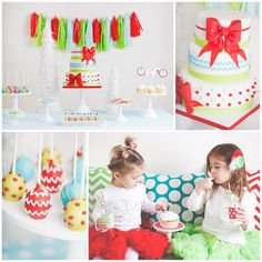 A Merry and Bright Christmas Party with Such Cute Ideas via Kara's Party Ideas KarasPartyIdeas.com #ChristmasParty #HolidayParty #PartyIdeas...