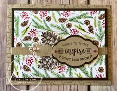 Painted Seasons card using Stampin' Up! products Margie's Crafts