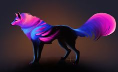 Auction - points - closed by Safiru on DeviantArt Mystical Animals, Mythical Creatures Art, Magical Creatures, Fantasy Creatures, Fantasy Wolf, Fantasy Beasts, Fantasy Art, Cute Animal Drawings, Cool Drawings