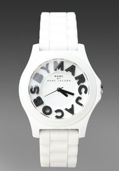 MARC BY MARC JACOBS Sloane Watch in White at Revolve Clothing - Free Shipping!