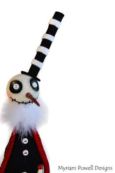 Goth Snowman  Spooky Snowman  Spooky by MyriamPowellDesigns, $70.00