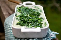 Creamed spinach, a perfect side with fish