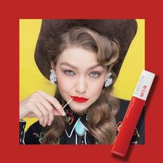 Hey Red Gigi 👄 - Education and lifestyle Gigi Hadid Maybelline, Maybelline Lipstick, Revlon Makeup, Matte Lipstick, Lipsticks, Wet N Wild Beauty, Make Up Collection, Party Makeup, Makeup Inspo