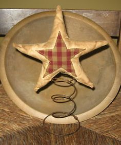 Primitive Stars | Primitive Christmas Star Tree Topper Nodder Spring | eBay