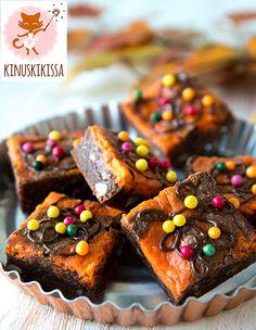 Brownie-taikina: 175 g voita tai margariinia 120 g tummaa suklaata 2 ¾ dl sokeria 2 tl Meira vaniljasokeria ¼ tl suolaa 2 munaa 3 dl vehnäjauhoja 50 g Meira...