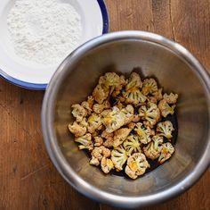 cauliflower marinating
