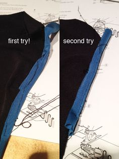 Way back when I was making my first muslins of my new running gear, I realised that the methods I'd previously used to finish knit necklines (elastic, FOE, serged bindings, etc) were just NOT…