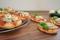 Vegetarische Dinkel-Minipizzen - Ofenliebe, Der Rezepte-Blog