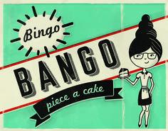 Bingo Bango retro illustration by Mary Sauceda