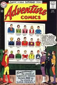 Adventure Comics, comic books, cover art, Legion of Super Heroes, Superboy, Substitutes, Silver Age, members