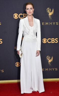 Evan Rachel Wood from 2017 Emmys Red Carpet Arrivals In Jeremy Scott