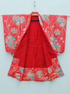 http://www.fujikimono.co.uk/fabric-japanese/happy-birthday.html  ☆ New Arrival ☆ 'Happy Birthday' #Girl's #antique #coral #pink #silk #kimono #floral #pattern   #kimono #kimonojacket #FujiKimono #kawaii #cosplay #HYPERJAPAN #vintage #antique  #textile #costume #indigo #boro #hakama #Japan #fashion #Japon #Japonisme  #wearableart #upcycle #sustainable #tabi #happybirthday