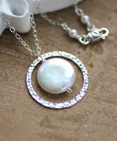 Sisters Necklace Eternity Necklace Pearl Necklace by LRoseDesigns