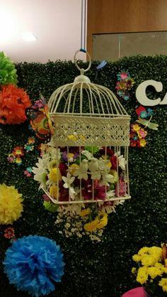 Trabalho meu,  flores para a  festa infantil Jardim da Catarina  / Maio 2015