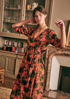 Sézane - Dalhia Dress Transport Routier, Union Made, Look After Yourself, Shopping Lists, Parisian Style, Night Outfits, Mid Length, How To Introduce Yourself, Wrap Dress