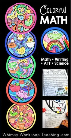 Colorful Math Integrates Art Writing And Science To Create Stunning Bulletin Displays